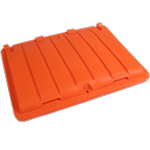 Wheelie Bin Orange Recycling Lid
